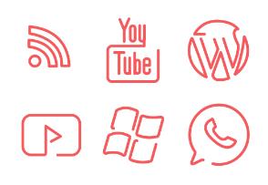 Line-drawn Social Media
