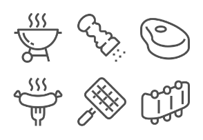 Lined barbecue