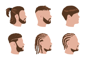 Male hairstyles color