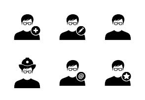 Male User Person Avatar Glyph Vol 3