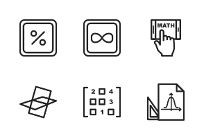 Math Symbols Linear Black