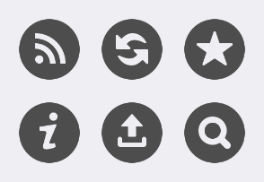 Media and Navigation Buttons - Round