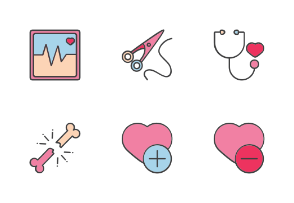 Medical And Health With Color Iconset