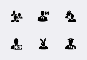 Metro Style People SVG Icons