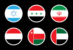 Middle East Country Flags