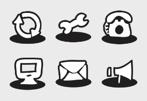 Social Messaging & Productivity Mix Icons