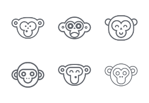 Monkey Face Line Set