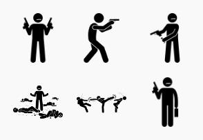 Movie action hero fight scene
