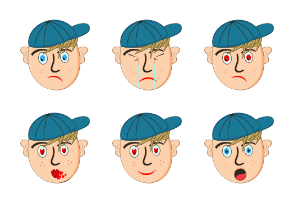 Multiple Face Characters