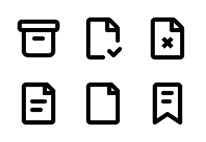 Office life pictograms