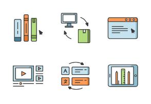 Online education Filled outline