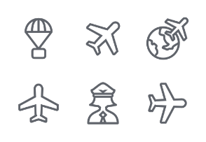 Aviation Outline icon set
