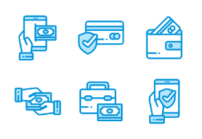 Payment and Electronic Money Monochrome Blue