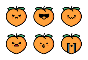 Peach Emoticons