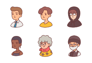 People Avatar filled outline