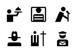 People Material Glyph