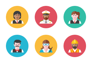 People Occupations Icons - Rounded
