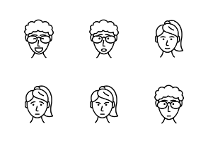 Peoples faces and emotions