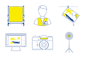 Photography outline with yellow