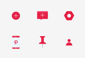 Pinterest UI - Flat