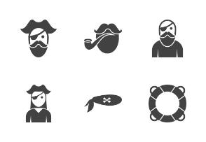 Pirate Glyph Black