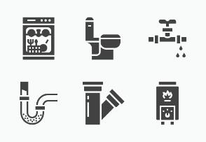 Plumbing service, Bathroom - Glyph