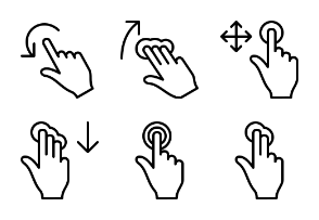 Rcons Touch Gesture Line