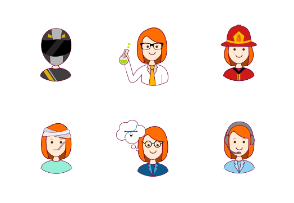 Redheaded woman professions