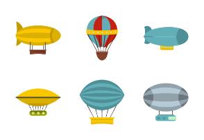 Retro balloons aircraft