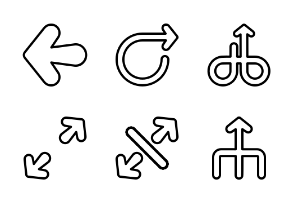 Round Arrows - Outline