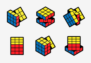 Rubik's cube color