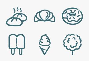 Set.02 Food Outline Doodle