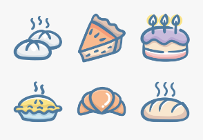 Set.03 Food Colors Doodle