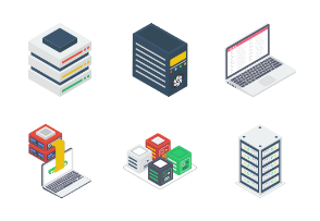 Set of Isometric 3