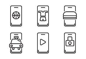 Set of smartphone Line icon.