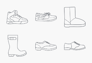 Shoes Outlines
