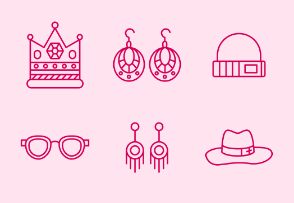 Simple Set of Accessories. Vector Line Icons.