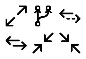 Smashicons Arrows MD - Outline - Vol 2