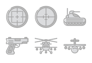 Smashicons Badges & Army - Greyscale - Vol 2