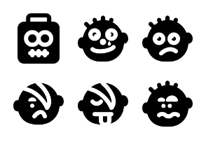 Smashicons Emoticons MD - Solid - Vol 1