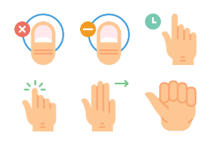 Smashicons Hand Gestures - Flat - Vol 2