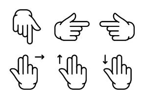 Smashicons Hand Gestures - Outline - Vol 1