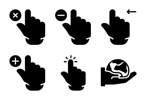 Smashicons Hand Gestures - Solid - Vol 3