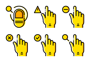 Smashicons Hand Gestures - Yellow - Vol 3