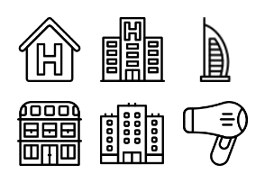 Smashicons Hotel Services - Outline - Vol 1