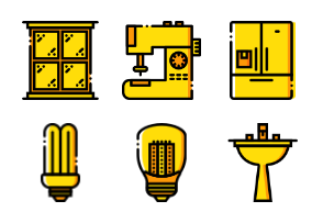 Smashicons Households - Yellow - Vol 1