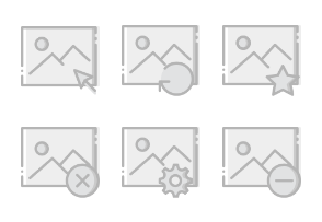 Smashicons Interactions - Greyscale - Vol 7