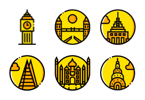 Smashicons Monuments - Yellow