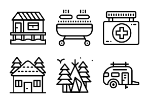 Smashicons Outdoors 2 - Outline