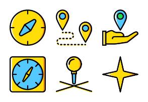 Smashicons Pins & Locations - Yellow - Vol 2
